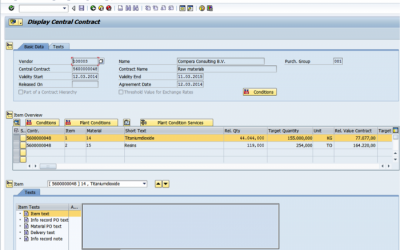 Central Contracts in SRM 7.0