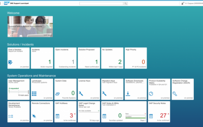 New SAP ONE Support Launchpad brings it all together