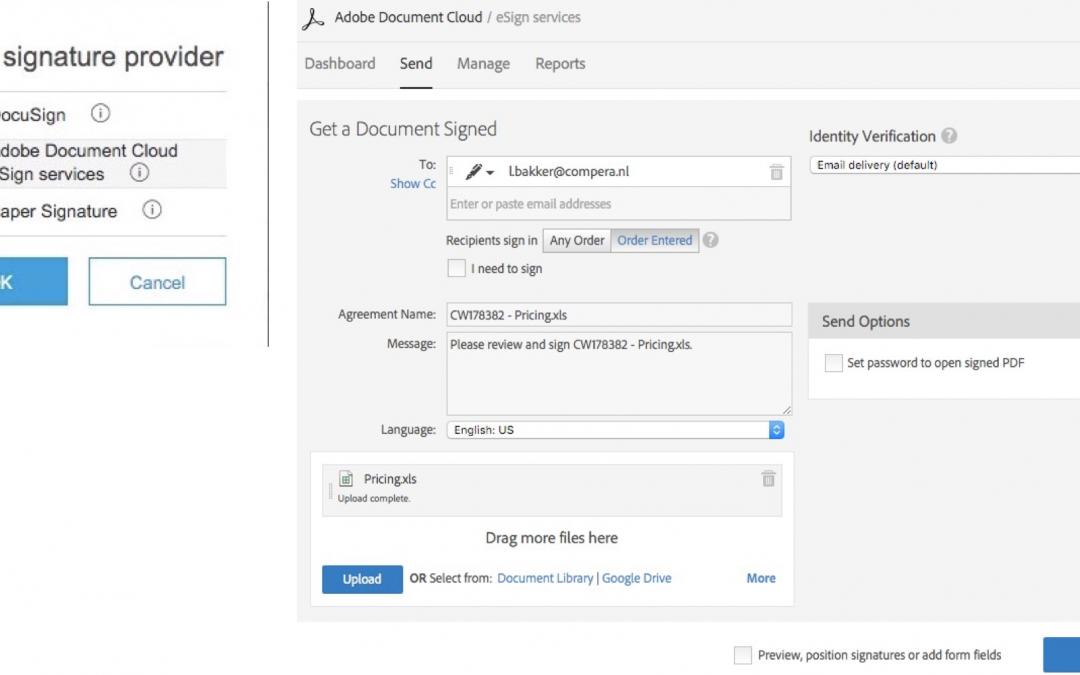 Digitale handtekening in SAP Ariba Contracten