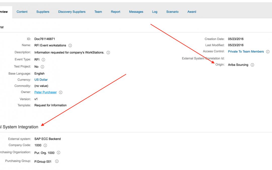 Nieuw in SAP Ariba: Totale RFQ integratie met  SAP ECC!
