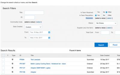 SAP Ariba Team Requisitioning